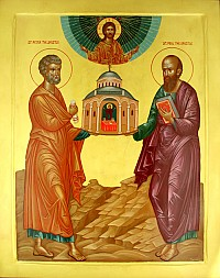 SsPeter & Paul founding the Antiochian Church